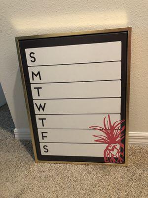 Weekly white board calendar for Sale in Auburndale, FL