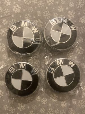68mm BMW Rim Center Hubs Black and white for Sale in Brooklyn, NY