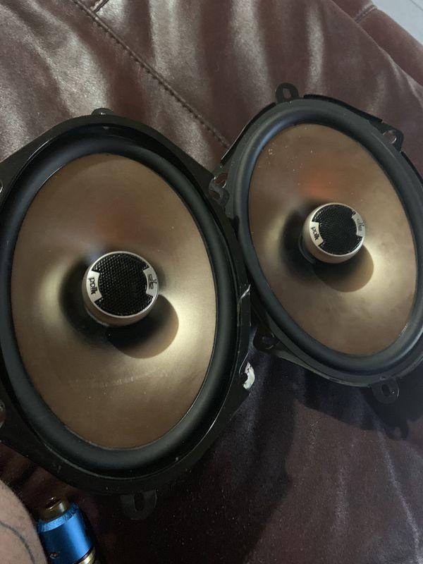 25$ pick up now Polk audio 5x7s