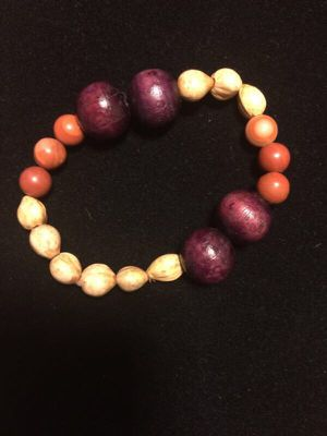 New handmade bracelet. Made with genuine seed pods, wooden beads and Red Malachite stone. for Sale in Staunton, VA