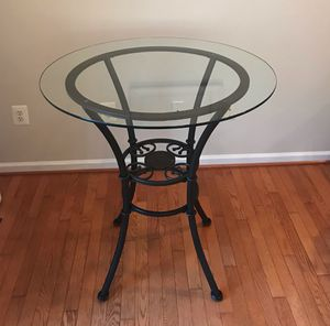 Wrought Iron/Glass Pub Table for Sale in Purcellville, VA