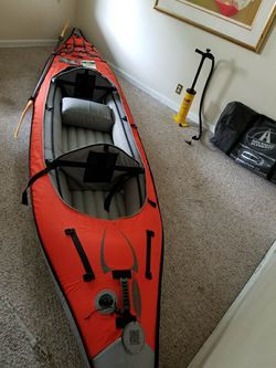 Kayak converts into Paddleboard, includes pump, travel bag, cover and paddles! See description attached for Sale in New Rochelle,  NY