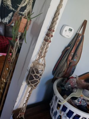 Handmade macrame hanging planter for Sale in Marysville, OH