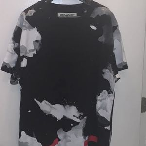 Off-White Clouds Shirt and Shorts Black White Red Logo Print XL for Sale in Silver Spring, MD