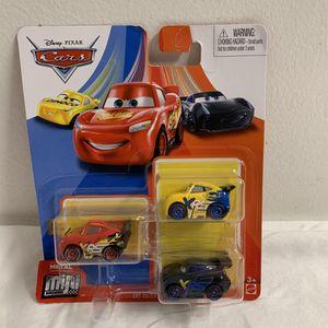 DISNEY PIXAR CARS MINI RACERS McQueen Ramirez Storm 3 PACK for Sale in Hialeah, FL