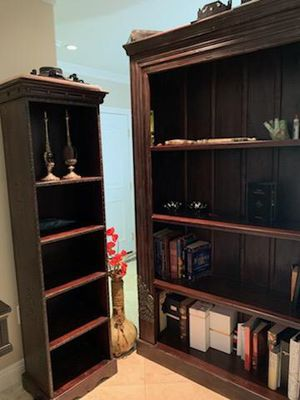 Solid wood bookshelves, neo gothic for Sale in Los Angeles, CA
