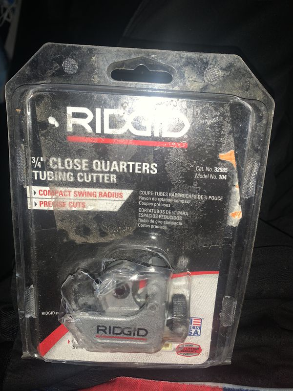 Ridge 3/4 tubing cutter
