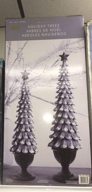 Holiday Trees 2Pcs Christmas Decorations Arboles Decoraciones Navideñas for Sale in Miami, FL