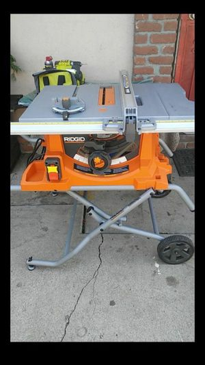 Ridgid 10in heavy duty table saw with stand for Sale in Fontana, CA