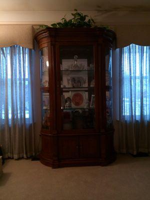 Wood Curio Cabinet for Sale in Wyandotte, MI