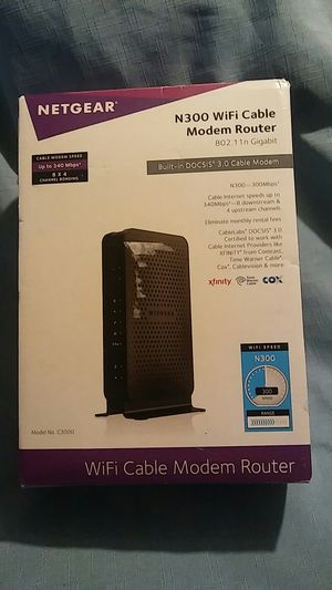 Netgear c3000 wifi cable modem router for Sale in Sophia, NC