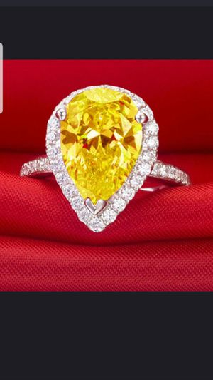 Sterling silver citrine and white sapphire ring size 8 for Sale in Dundalk, MD