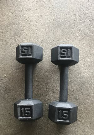 15 pound dumbbells for Sale in Selma, CA