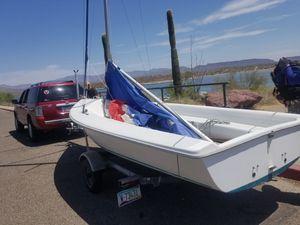 Catalina Capri 16.5 Sailboat and galvanized trailer for Sale in Chandler, AZ