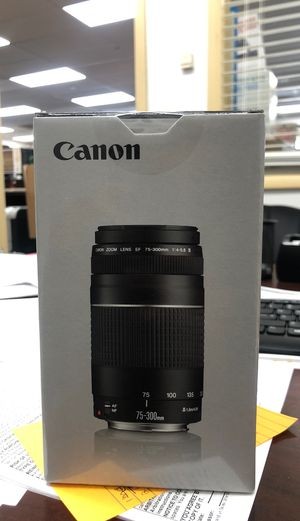 NEW CANNON EF 75-300 MM LENS for Sale in Virginia Beach, VA