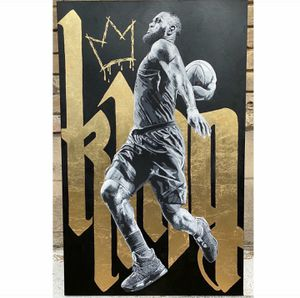 Custom Painting of LeBron. 48x30 would make a great Xmas gift. Price reduced. for Sale in Mabelvale, AR
