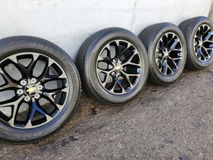 "20"" GM Style Black rims and Bridgestone Tires for Sale in Orange, CA"