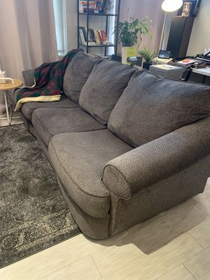 Gray 8 foot long sofa! Like new! for Sale in Wheat Ridge, CO