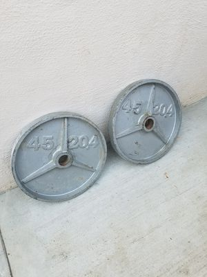Olympic weights 45 lbs for Sale in Tracy, CA