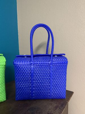 Handwoven Plastic Tote from Mexico for Sale in San Antonio, TX