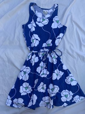 Girls size 10/12 large OldNavy dress blue floral summer sleeveless for Sale in Painesville, OH