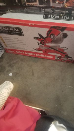 New General miter saw 10in sliding never used in box $100 cash firm for Sale in Salt Lake City, UT