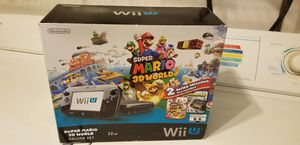 Nintendo Wii U Super Mario 3D world Deluxe Set with extra games for Sale in Miami Beach, FL