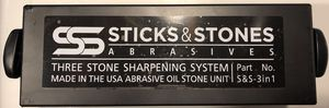 SS Sticks & Stones Abrasives three stone sharpening system 3 in 1. Brand New never used for Sale in S WILLIAMSPOR, PA