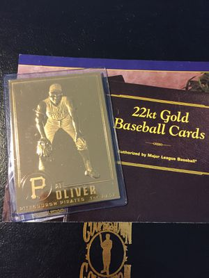 Al Oliver of the Pittsburgh pirates 22 karat gold baseball card for Sale in Sterling Heights, MI