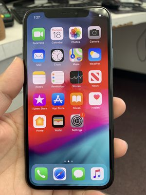 iPhone x 256gb only thing the face id doesn't work. But you can use with regular password. Other than that everything else works fine. It's unblocke for Sale in South Gate, CA
