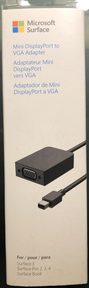 Mini DisplayPort to VGA adapter for Microsoft Surface book, Surface Pro 2, 3, 4, Surface 3 for Sale in San Francisco, CA