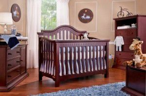 Cherrywood Bellini baby crib and dresser with changing table. Excellent condition. Serious Inquiries only! for Sale in Laurel, MD