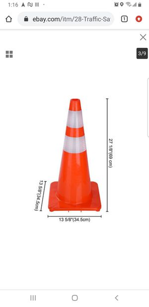 """28"""" Traffic Safety Cones Reflective Collars Overlap Parking Construction 6 Pcs for Sale in Bellflower, CA"""