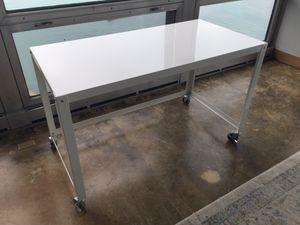 CB2 Go-Cart Desk in White for Sale in Chicago, IL