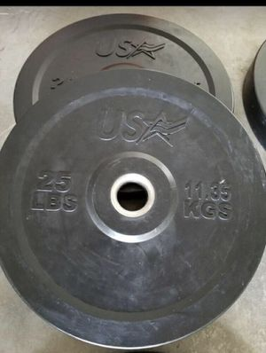 2 25 pound bumpers /weight plates for Sale in Miami, FL