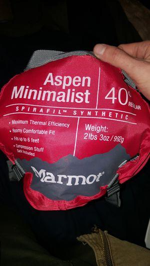 Marmot Aspen Minimalist 40° sleeping bag for Sale in Brunswick, OH