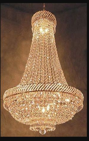 "French Empire Crystal Chandelier Chandeliers Lighting H46"" X W23"" for Sale in Federal Way, WA"
