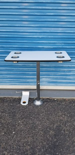 Rv table with 4 cupholders. Base gets screwed in at the bottom for support for Sale in Phoenix, AZ