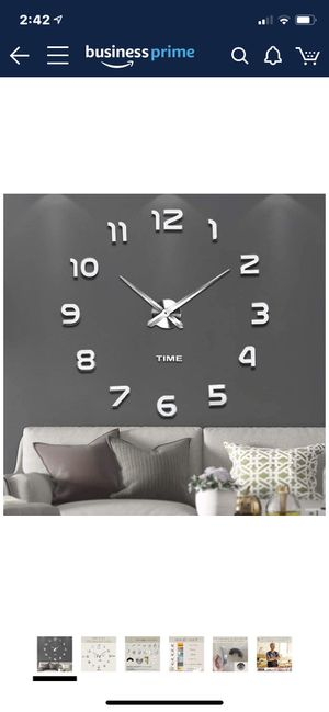 Frameless DIY Wall Clock 3D Mirror Wall Clock Large Mute Wall Stickers for Living Room Bedroom Home Decorations for Sale in Tulsa, OK