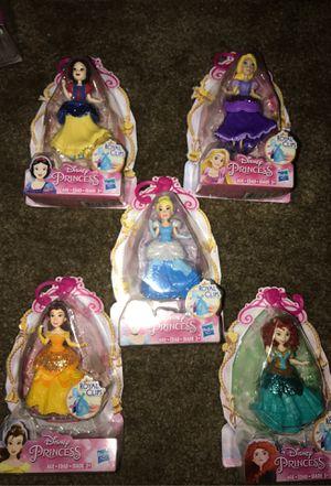 Disney princess royal clip dolls for Sale in Clovis, CA