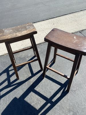 Two wood stools for Sale in Corona, CA