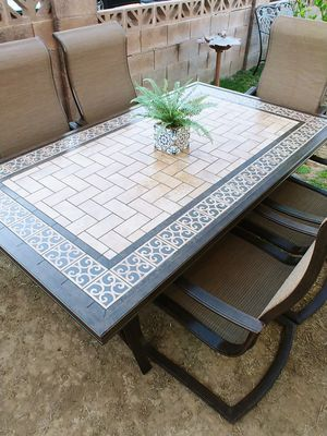 🌻Beautiful heavy patio dining set by : Agio🌻 for Sale in Phoenix, AZ