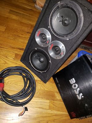 Audio Pipe speakers and boss amp for Sale in New York, NY