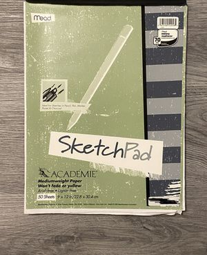 """Académie SketchPad Mediumweight Paper 50 sheets 9x12"""" for Sale in Ithaca, NY"""