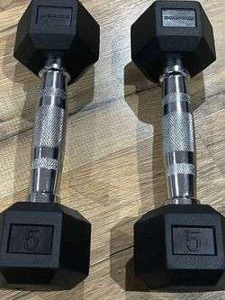 Rubber Hex Dumbbells Set 5 Pounds Brand New for Sale in Los Angeles,  CA