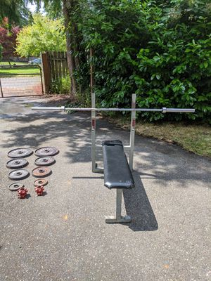 Olympic weights and dumbbells for Sale in Puyallup, WA