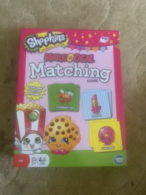 SHOPKINS MATCHING CARD GAME for Sale in Cleveland, OH