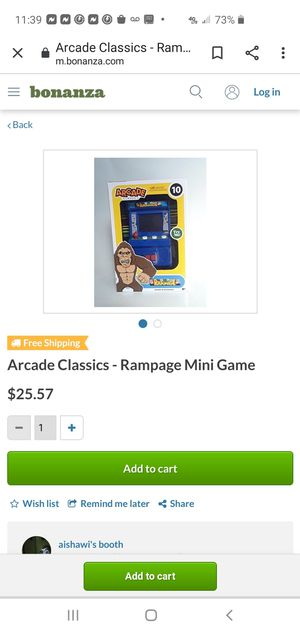 Arcade rampage for Sale in Jacksonville, FL