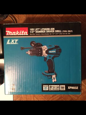 """Makita. 18V LXT Lithium Ion 2-Speed 1/2"""" Cordless Hammer Drill Driver (Tool Only). XPH03Z. for Sale in Brooklyn, NY"""