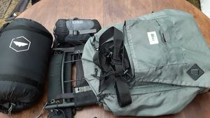 Huge REI backpack with sleeping bag and pillow for Sale in Seattle, WA